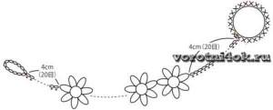 Воротничок – ожерелье Цветочки