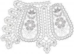 Воротник Цветы в брюггском кружеве