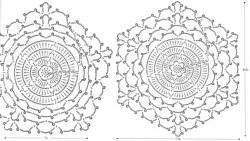 Большой воротник с объемными цветочками