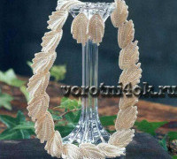 Колье и серьги Резные листики