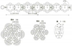 Колье – стойка из объемных цветочков