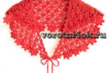 Красный ажурный воротник