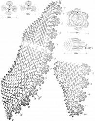 Удлиненный ажурный воротничок