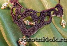 Вязаное колье Epices