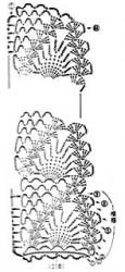 Воротничок Асимметричные ананасы