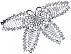 Воротник крючком Две бабочки