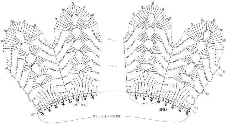 Вязание крючком воротнички ажурные схемы для начинающих