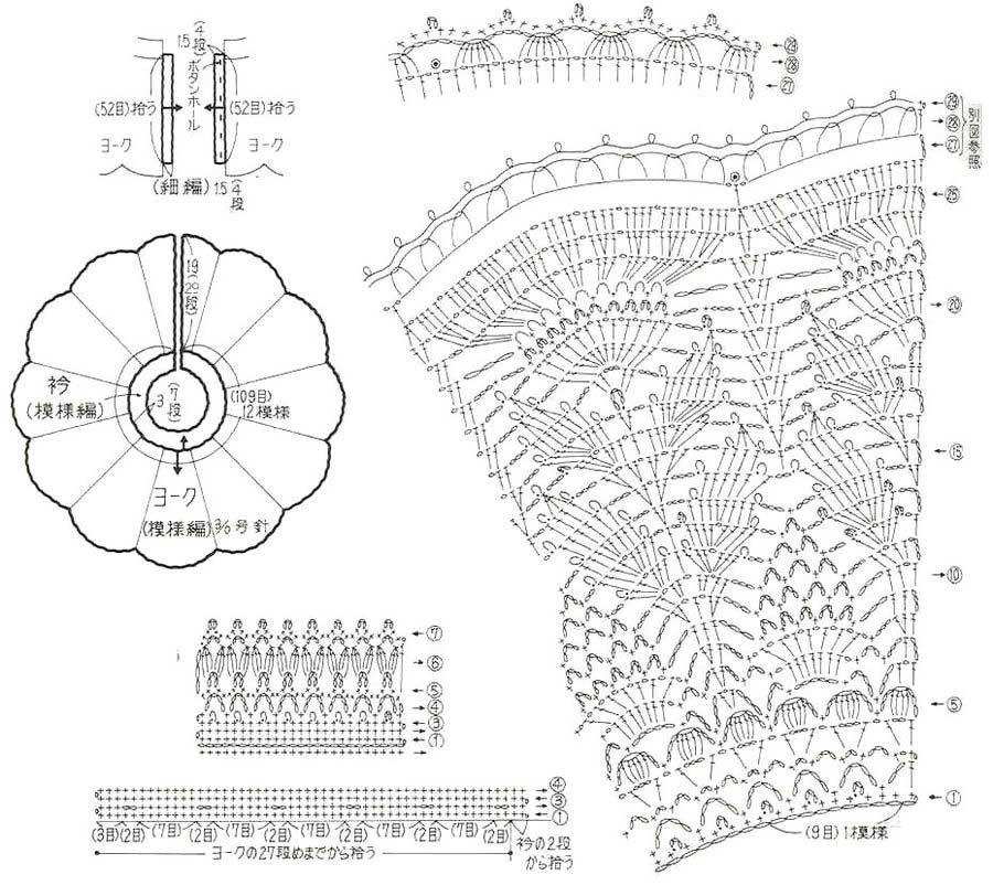 Схема вязания спицами воротник стойка