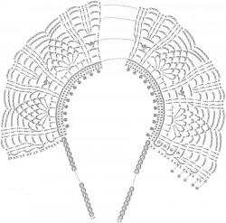 Ананасовый воротник с завязками