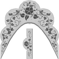 Филейный комплект – воротник-косынка и манжеты