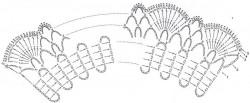 Воротник с бисером на брюггской тесьме