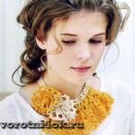 Оригинальное вязаное украшение