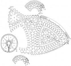 Воротник-оплечье из треугольных мотивов