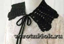 Черный воротник с завязками